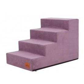 Laiptai šunims - Savoy - violetinė spalva [L dydis, 4 pakopos]