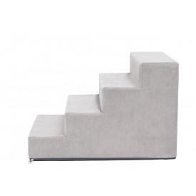 Laiptai šunims - Savoy - pilka spalva [L dydis, 4 pakopos]