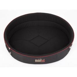 Ovalus guolis šunims Royal juodas su pėdutėmis