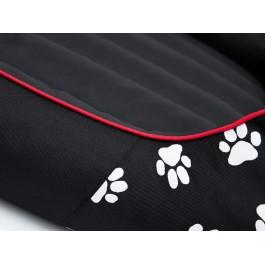 Cordura Prestige guolis šunims juodas su pėdutėmis
