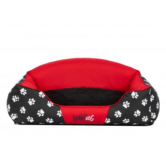 Guolis šunims Royal Exclusive raudonas su pėdutėmis Royal guoliai šunims
