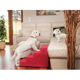 Laiptai šunims - Savoy - raudona spalva