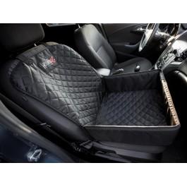 Šuns transportavimo kėdutė Transporter Fox automobiliui, juodas