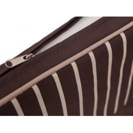 Pagalvė Bankok - ruda/šone baltos linijos