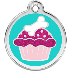 "Red Dingo ID pakabukas ""Cupcake Aqua"" su graviravimu (blizgus)"