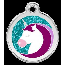"Red Dingo ID pakabukas ""Unicorn Aqua"" su graviravimu (blizgus)"