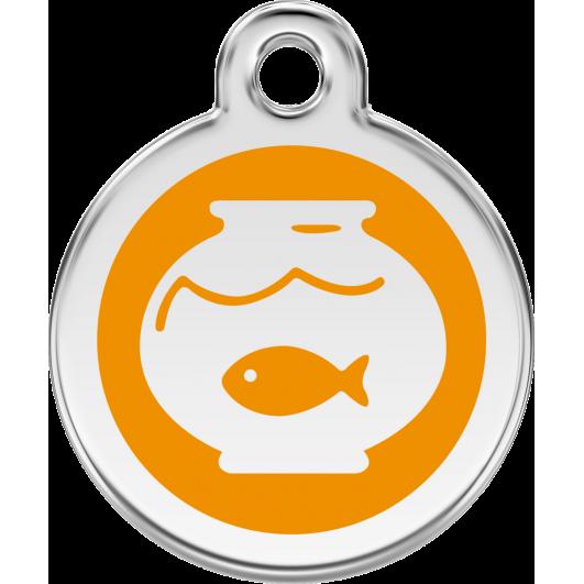 """Red Dingo ID pakabukas """"Fish Bowl"""" su graviravimu Nerūdijančio plieno pakabukai su emaliu"""