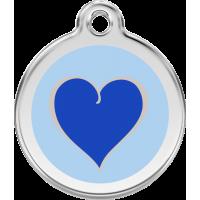 """Red Dingo ID pakabukas """"New Heart dark blue"""" su graviravimu"""