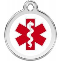 "Red Dingo ID pakabukas ""Medical White"" su graviravimu"