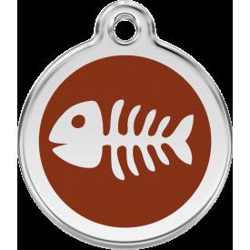 """Red Dingo ID pakabukas """"Fish Skeleton"""" su graviravimu"""