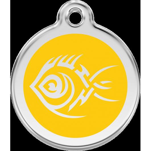 """Red Dingo ID pakabukas """"Tribal Fish"""" su graviravimu Nerūdijančio plieno pakabukai su emaliu"""