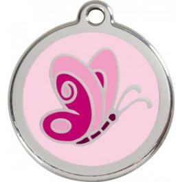 "Red Dingo ID pakabukas ""Butterfly Pink"" su graviravimu"