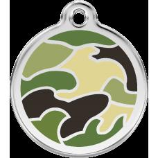 """Red Dingo ID pakabukas """"Camouflage Green"""" su graviravimu"""