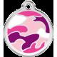 "Red Dingo ID pakabukas ""Camouflage Pink"" su graviravimu"