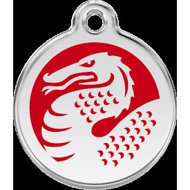 "Red Dingo ID pakabukas ""Dragon Red"" su graviravimu"