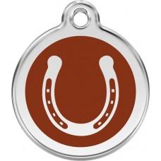 """Red Dingo ID pakabukas """"Horseshoe"""" su graviravimu"""