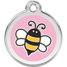 "Red Dingo ID pakabukas ""Bumble Bee"" Pink su graviravimu"