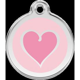 """Red Dingo ID pakabukas """"New Heart pink"""" su graviravimu"""