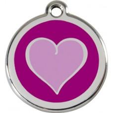 """Red Dingo ID pakabukas """"New Heart purple"""" su graviravimu"""
