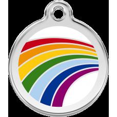 """Red Dingo ID pakabukas """"Rainbow White"""" su graviravimu"""