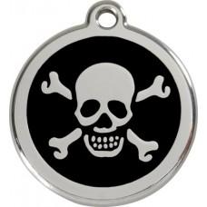 """Red Dingo ID pakabukas """"Skull & Crossbones"""" su graviravimu"""