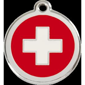 """Red Dingo ID pakabukas """"Swiss Cross"""" su graviravimu"""