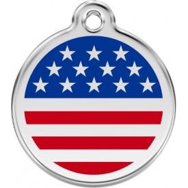 "Red Dingo ID pakabukas ""USA Flag"" su graviravimu"