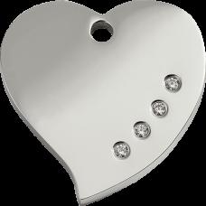 """Red Dingo ID pakabukas """"Diamante Heart"""" su Swarovski"""