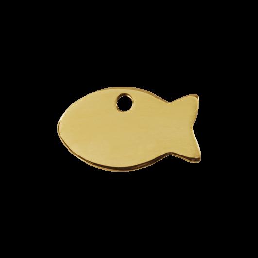 """Red Dingo ID pakabukas """"Fish"""" su graviravimu Žalvariniai pakabukai"""