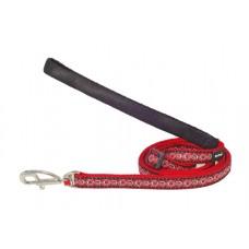 """Red Dingo pavadėlis šunims """"Cosmos"""" raudonas 12mm - 1.2m"""
