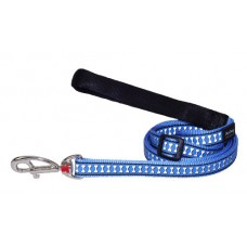 Red Dingo atspindintis pavadėlis šunims mėlynas 18mm - 1,2m