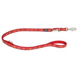 """Red Dingo universalus pavadėlis šunims """"Breezy Love"""" raudonas 12mm x 2.0m"""