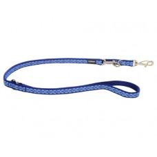 """Red Dingo universalus pavadėlis šunims """"Snake Eyes"""" tamsiai mėlynas 12mm x 2.0m"""